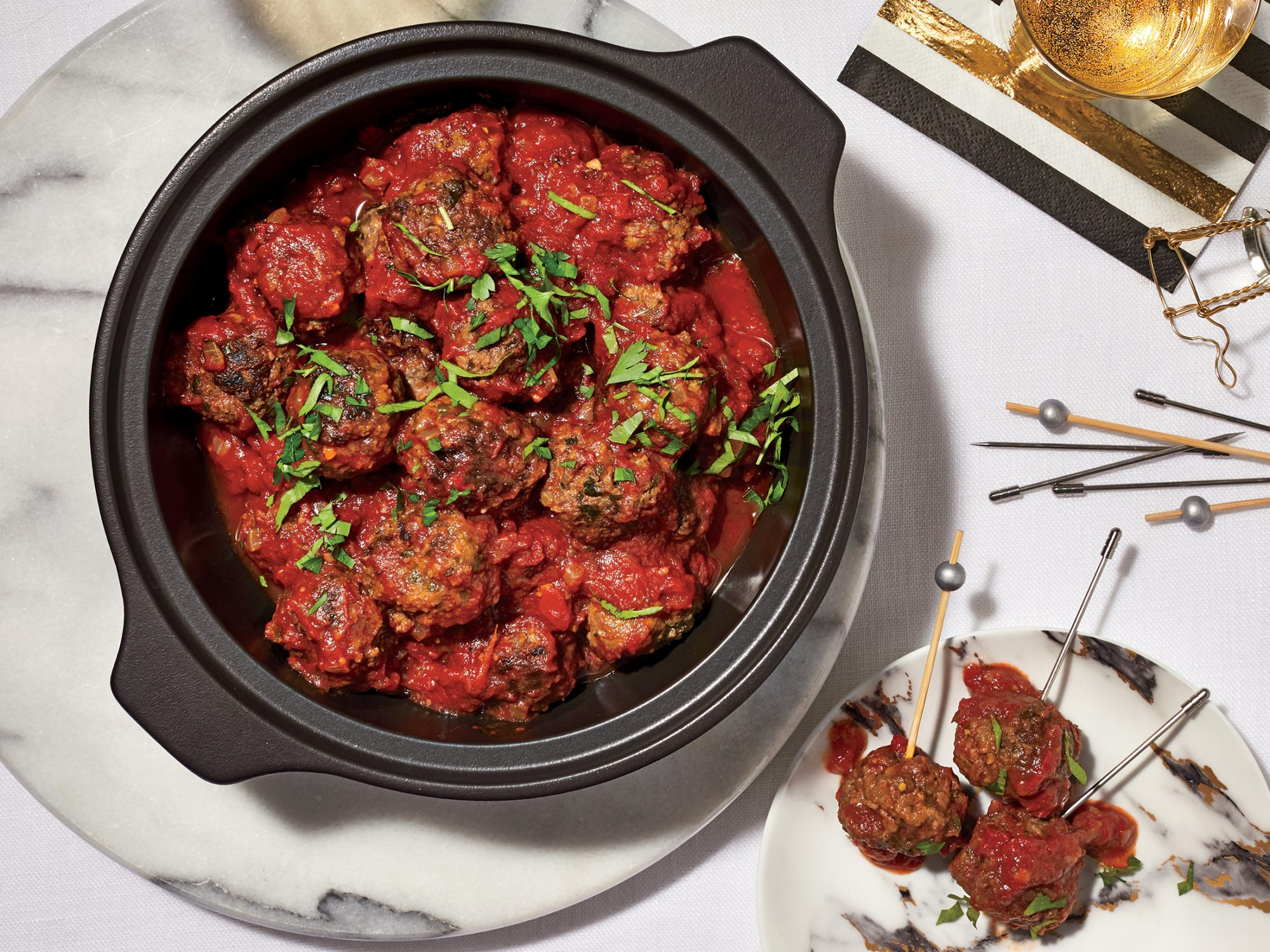 Saucy Mini Meatballs