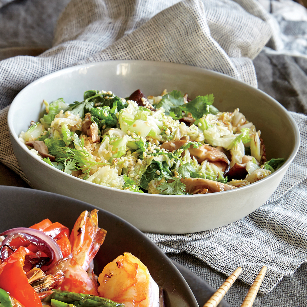 ck-Sesame Cabbage and Mushrooms Image