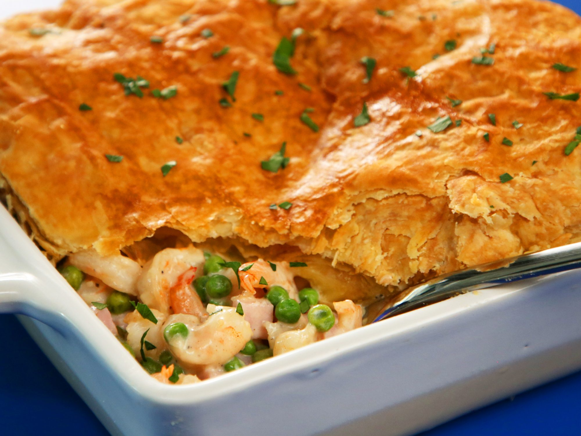 Shrimp Alfredo Pot Pie