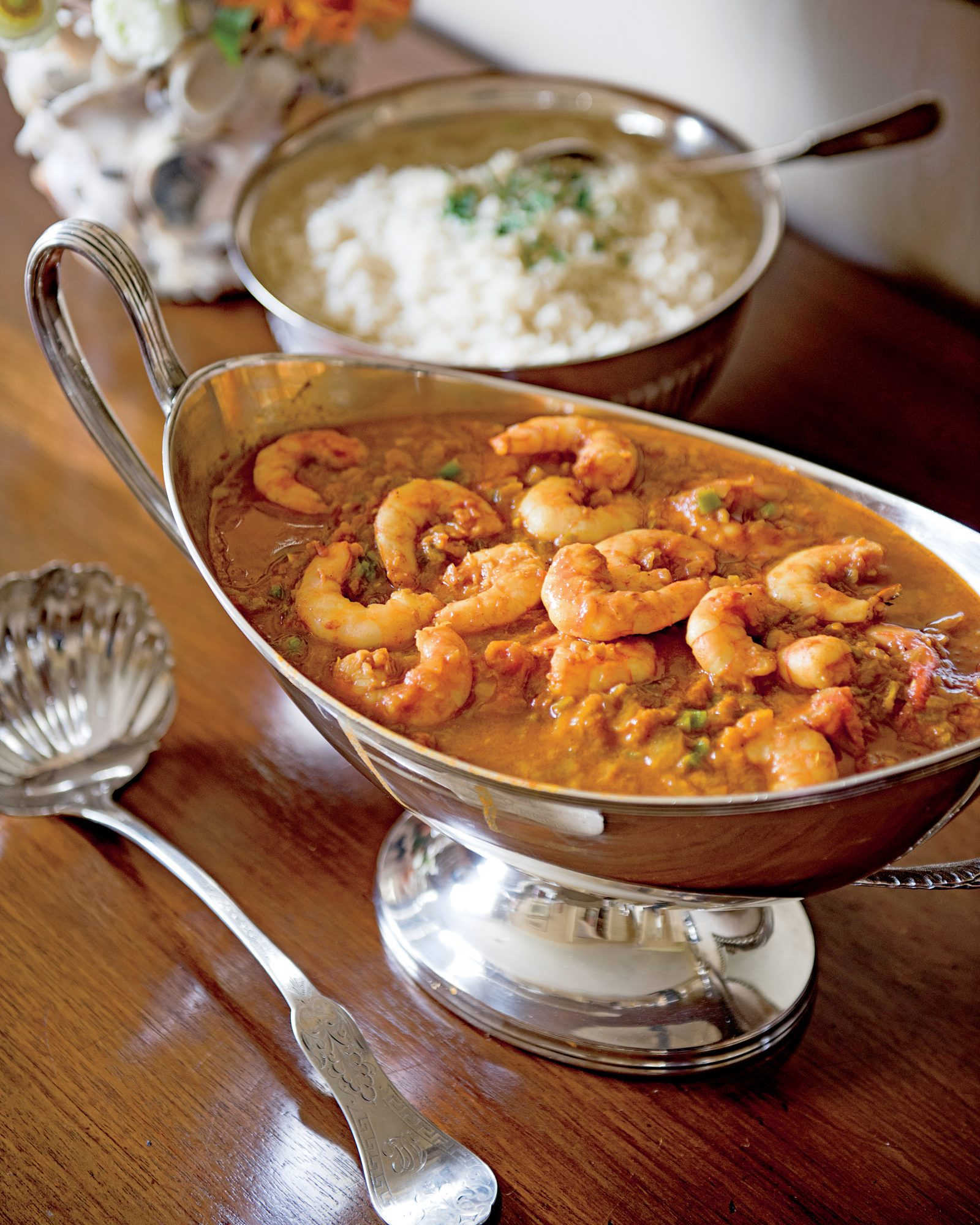 Shrimp Malacca with Rice