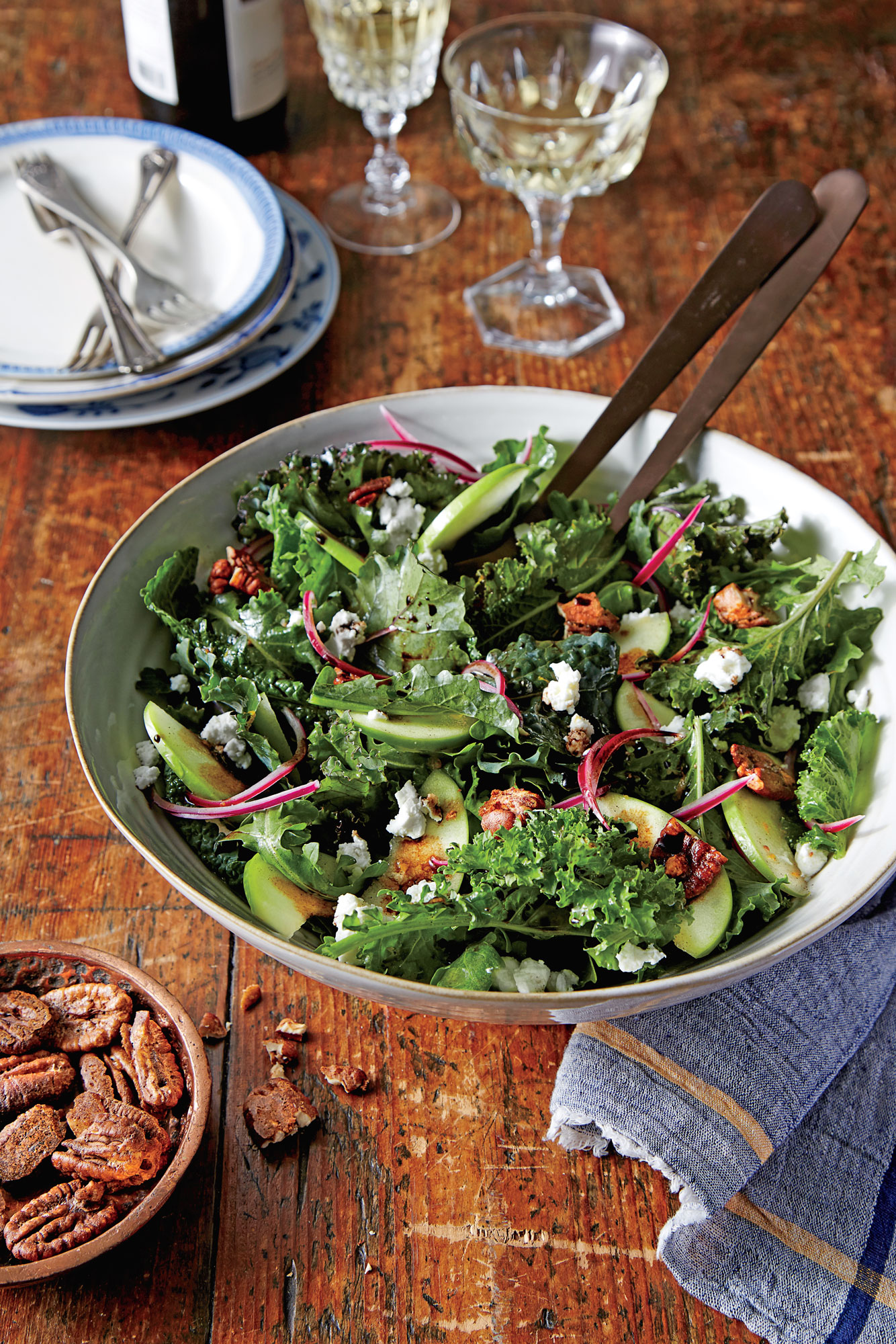 Apple and Goat Cheese Salad with Candied Pecans image