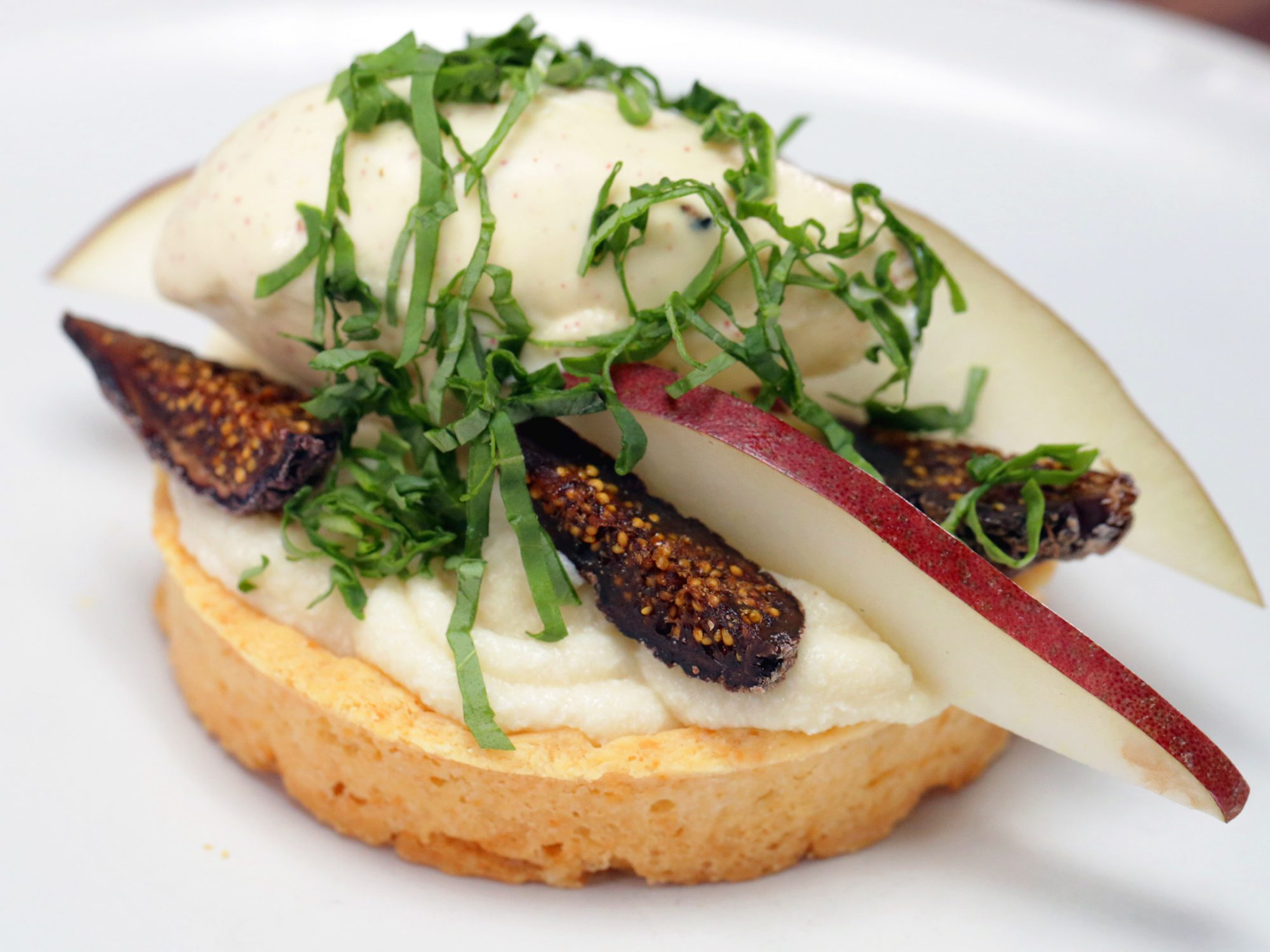 Smoked Honey and Fig Tart With Pink Peppercorn Ice Cream image