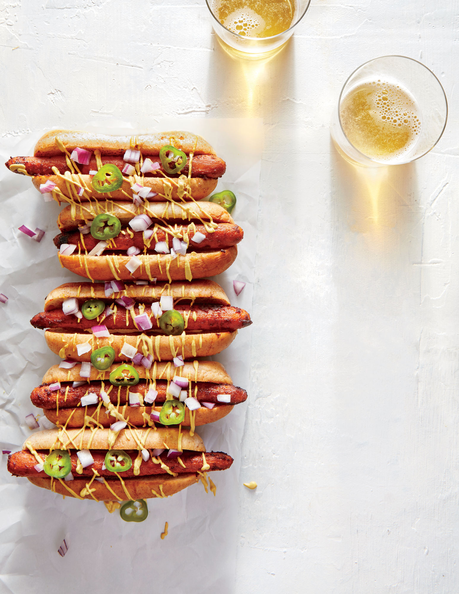 Smoky Carrot Dogs with Nacho Sauce