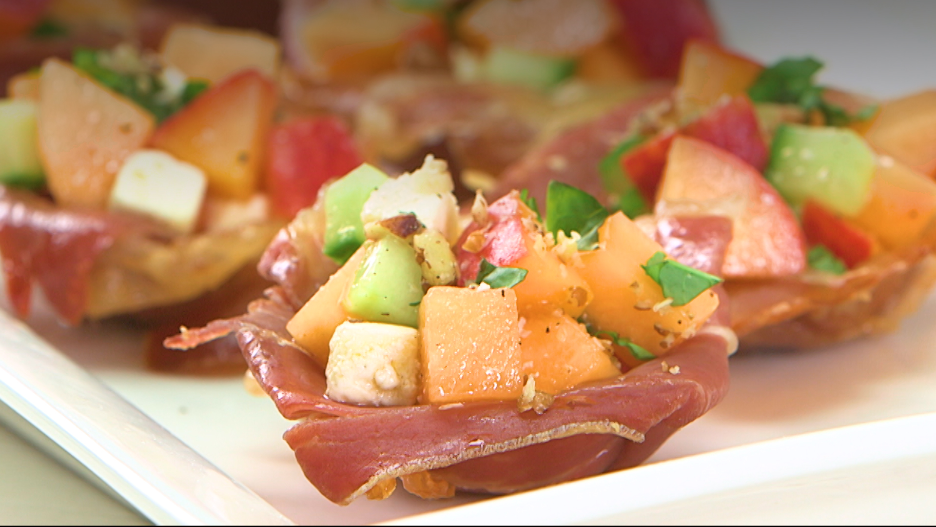 Southern Summer Caprese Prosciutto Cups image