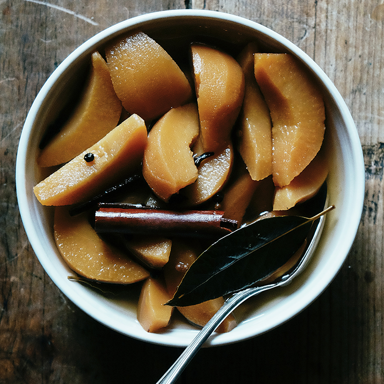 Spiced Pickled Quinces