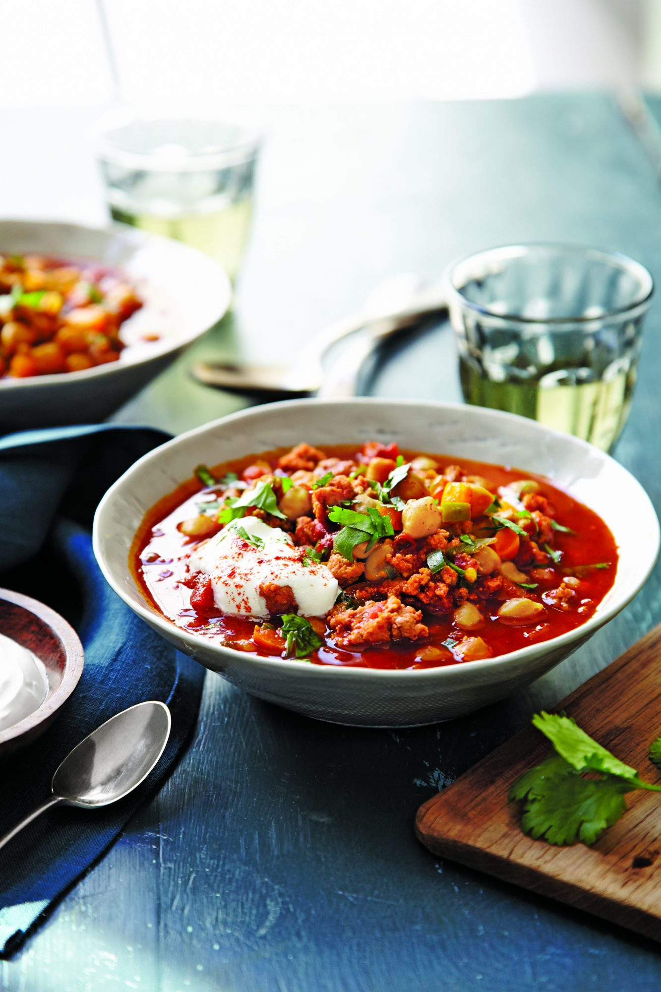 Spiced Turkey-Chickpea Chili