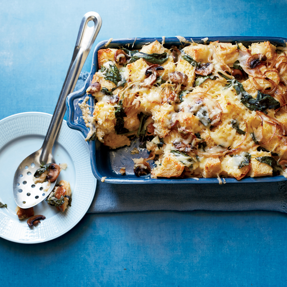 Spinach and Mushroom Strata