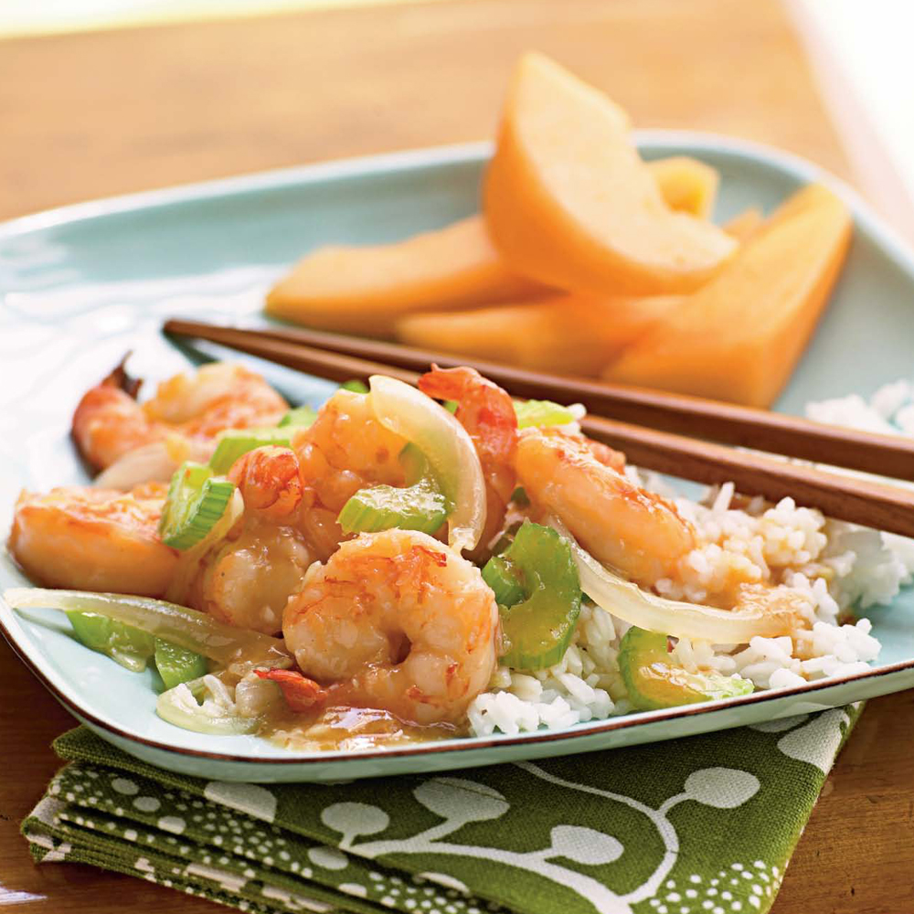 Stir-Fried Ginger Shrimp