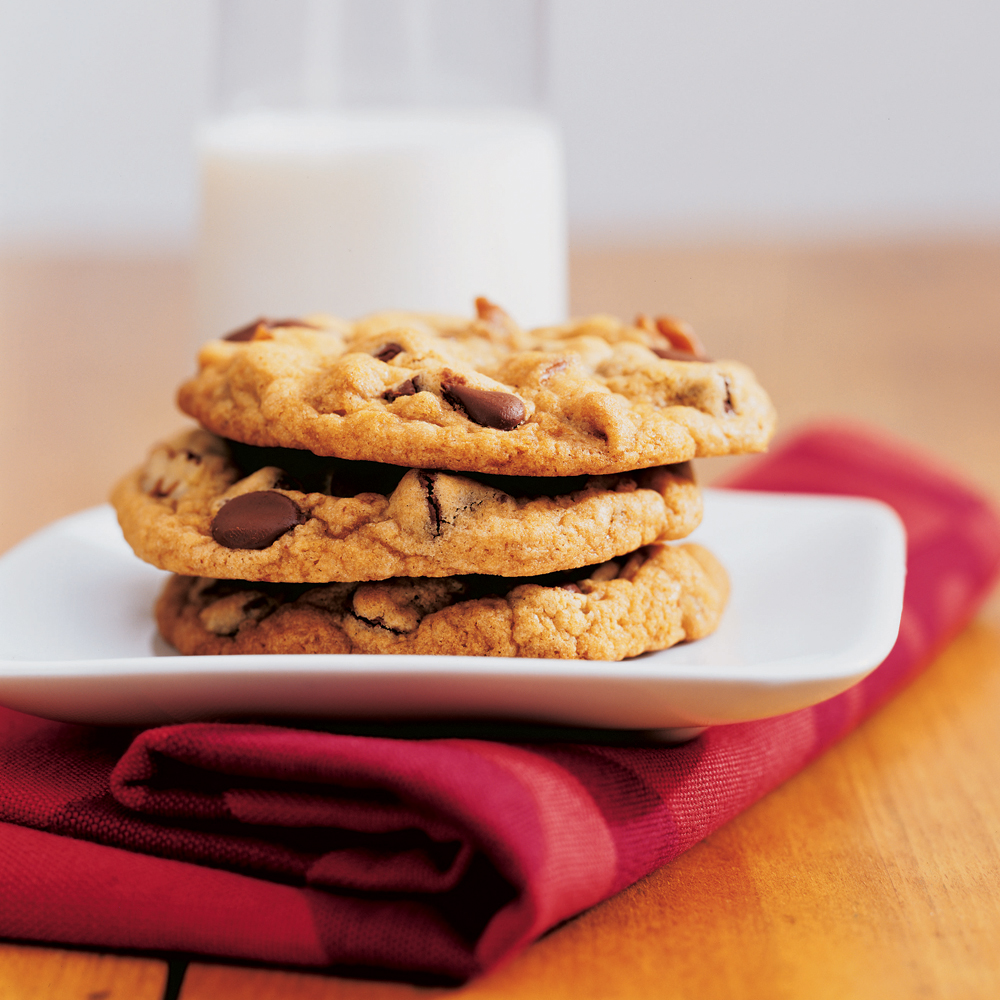 Thick, Chewy Chocolate Chip Cookies