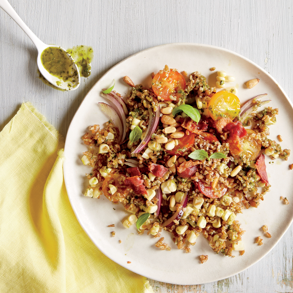 Tomato and Corn Bulgur Salad