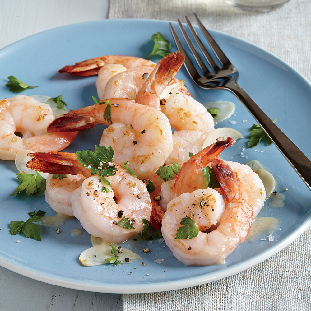 Twice-Cooked Garlic and Butter Shrimp