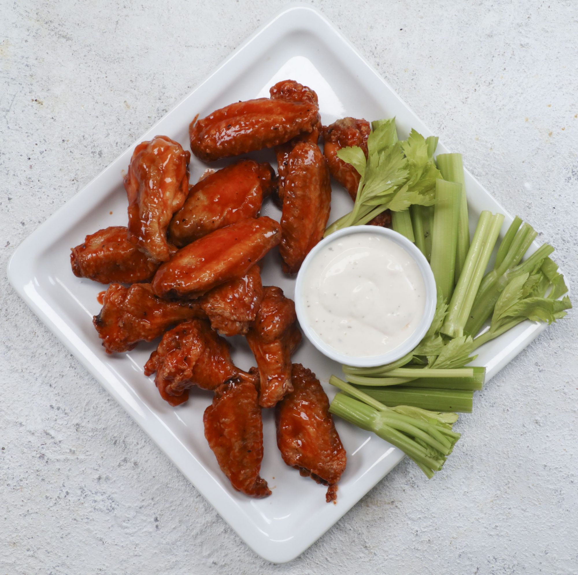 Crispy Grilled Buffalo Wings image