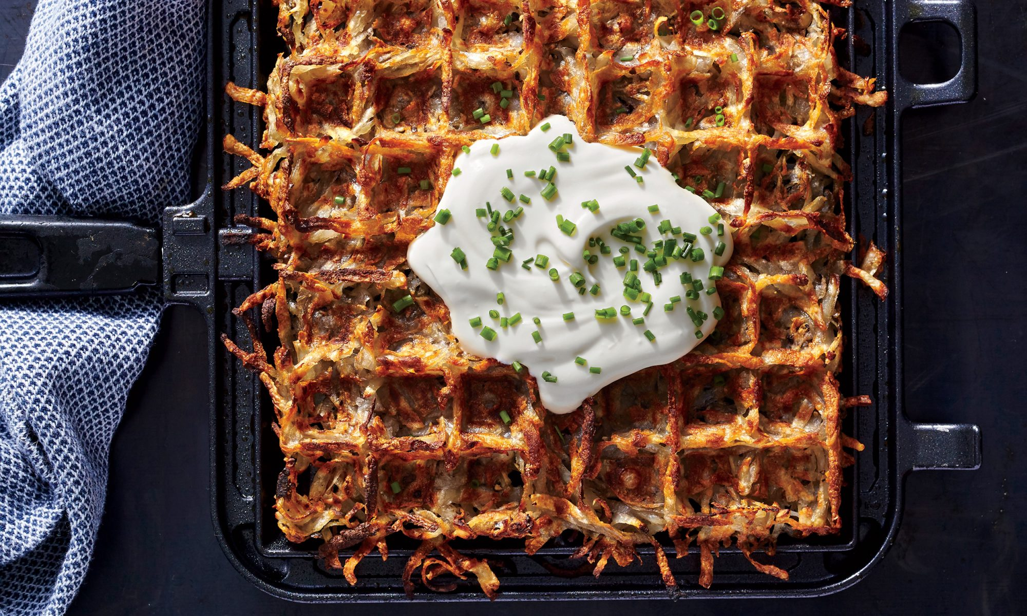 The World's Crispiest Hash Browns Come from a Waffle Iron