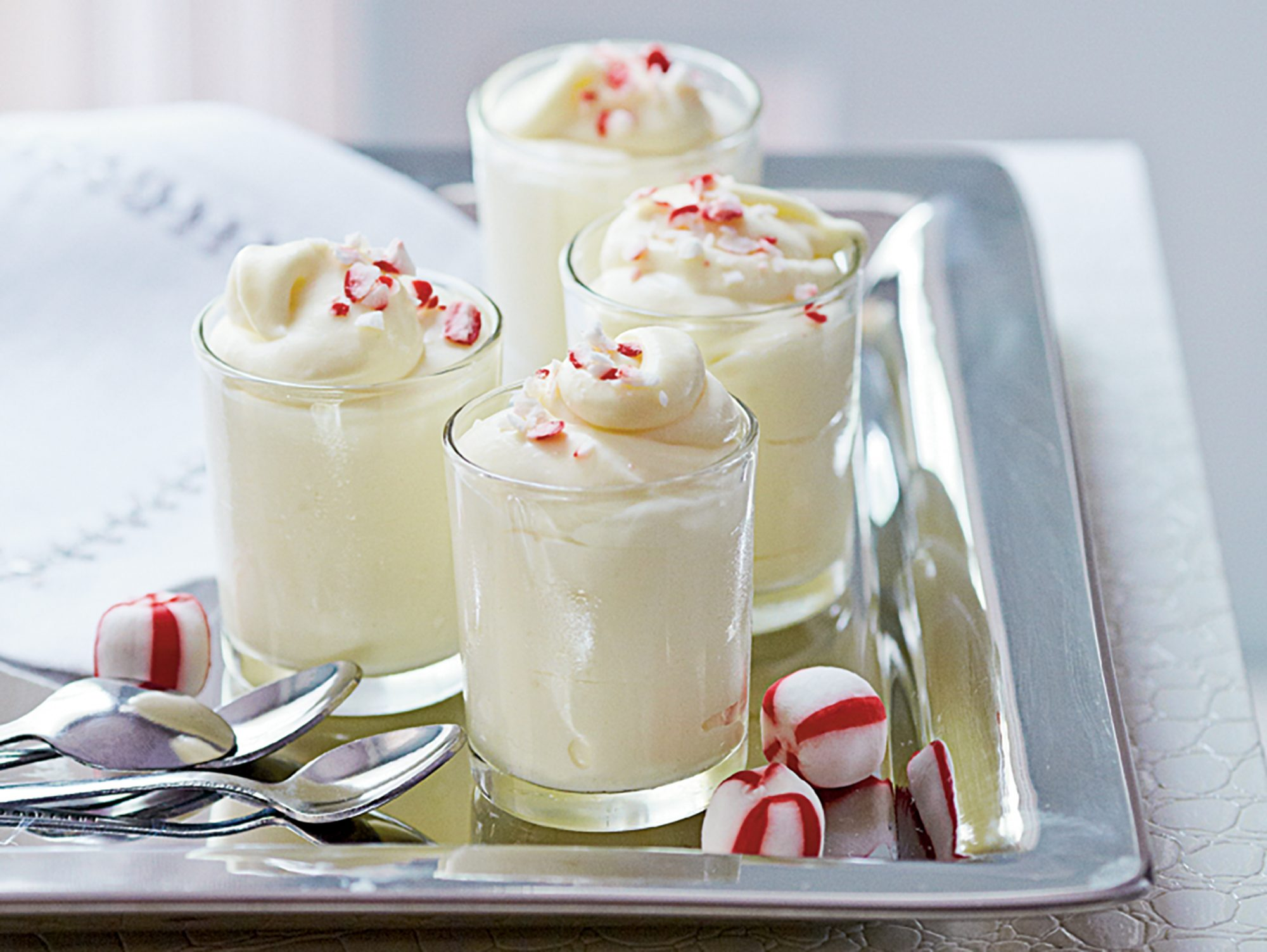 White Chocolate-Peppermint Mousse