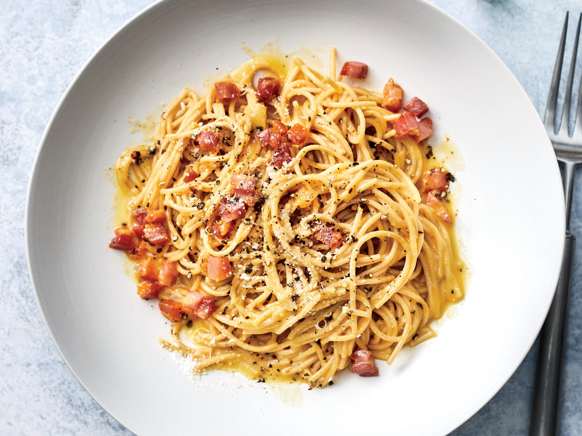 Whole-Wheat Pasta Carbonara