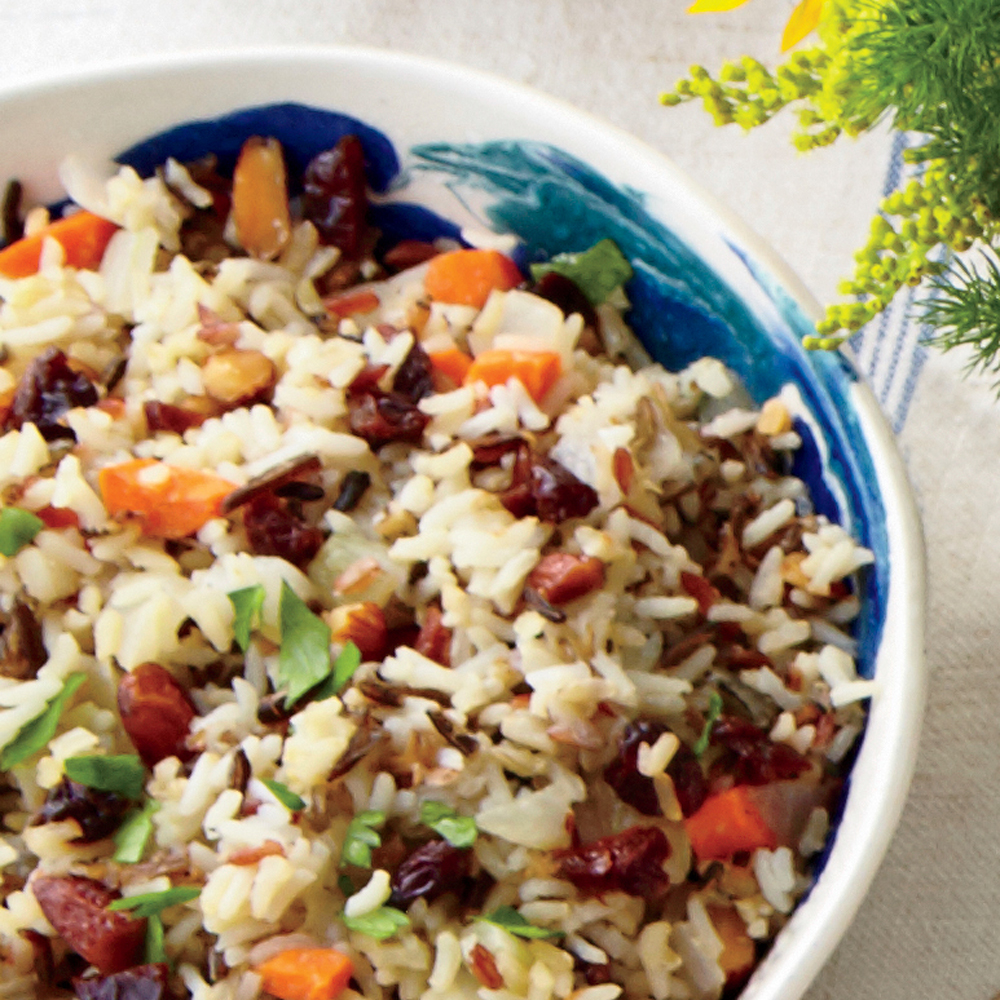 Wild Rice Salad with Dried Cherries and Parsley