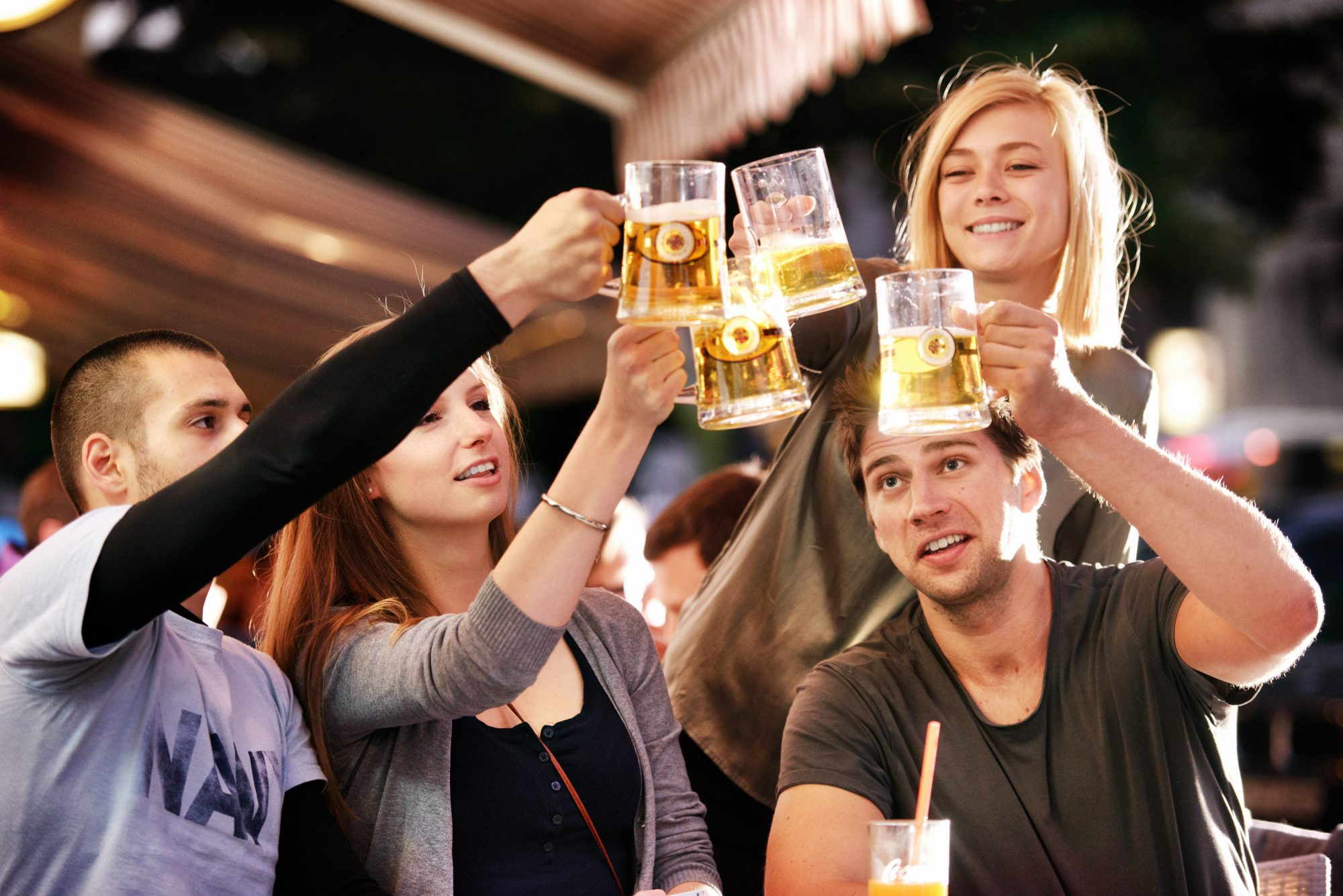 Young People Drinking Beer image