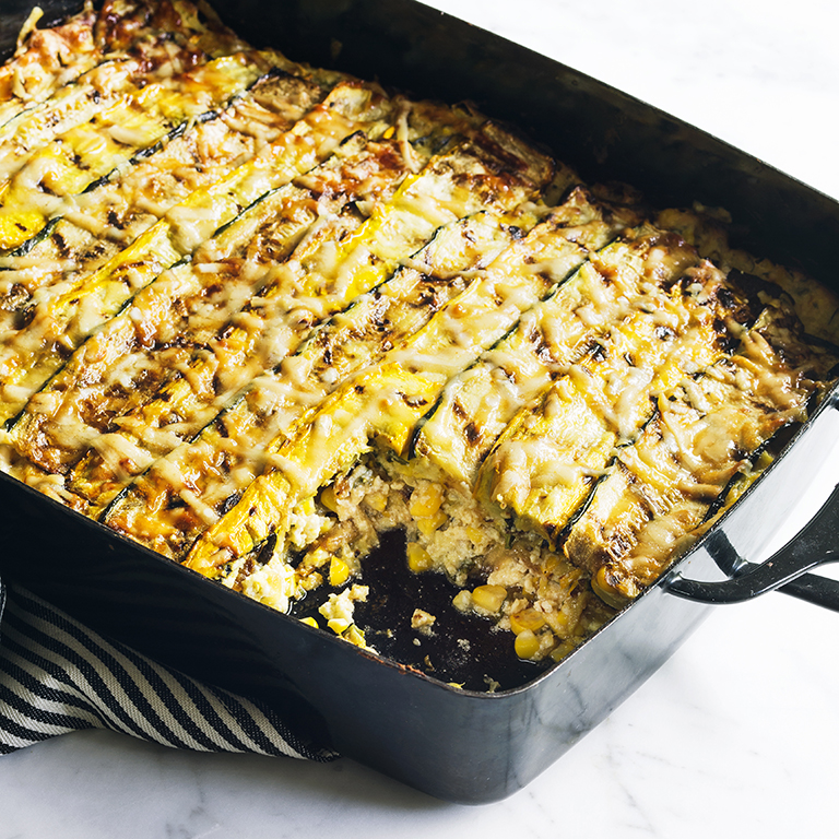 Zucchini and Corn Lasagna