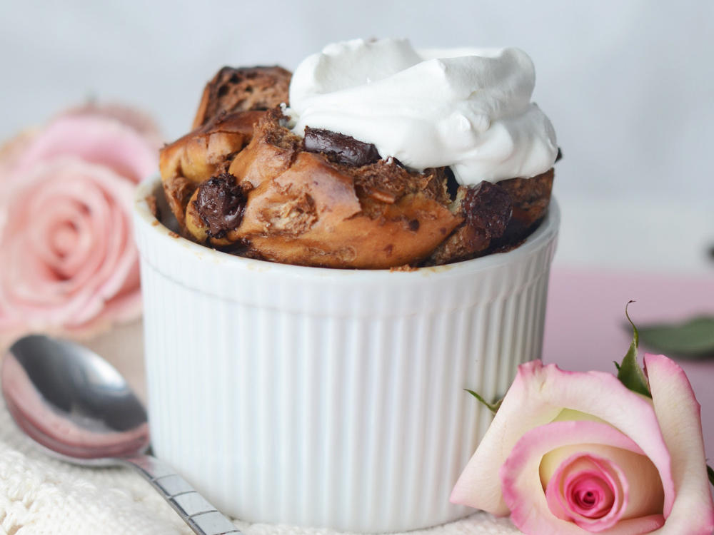 Chocolate Chunk Bread Puddings