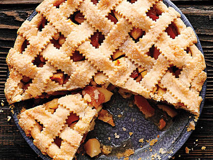 Lattice-Top Apple Quince Pie