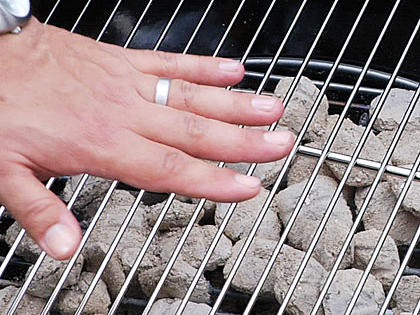 Here's how to make sure the grill is at the right temperature.Watch the Video