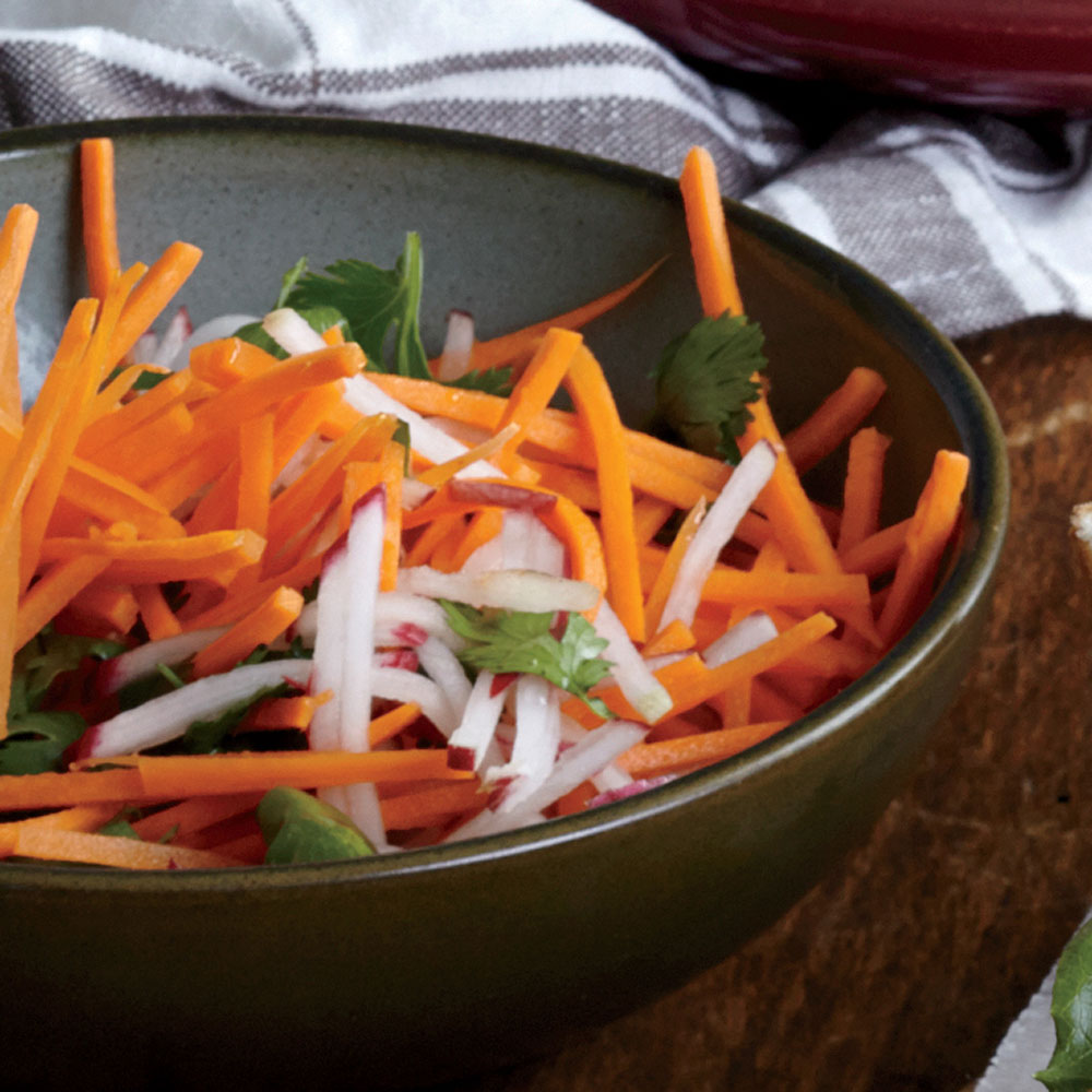 Radish and Carrot Slaw