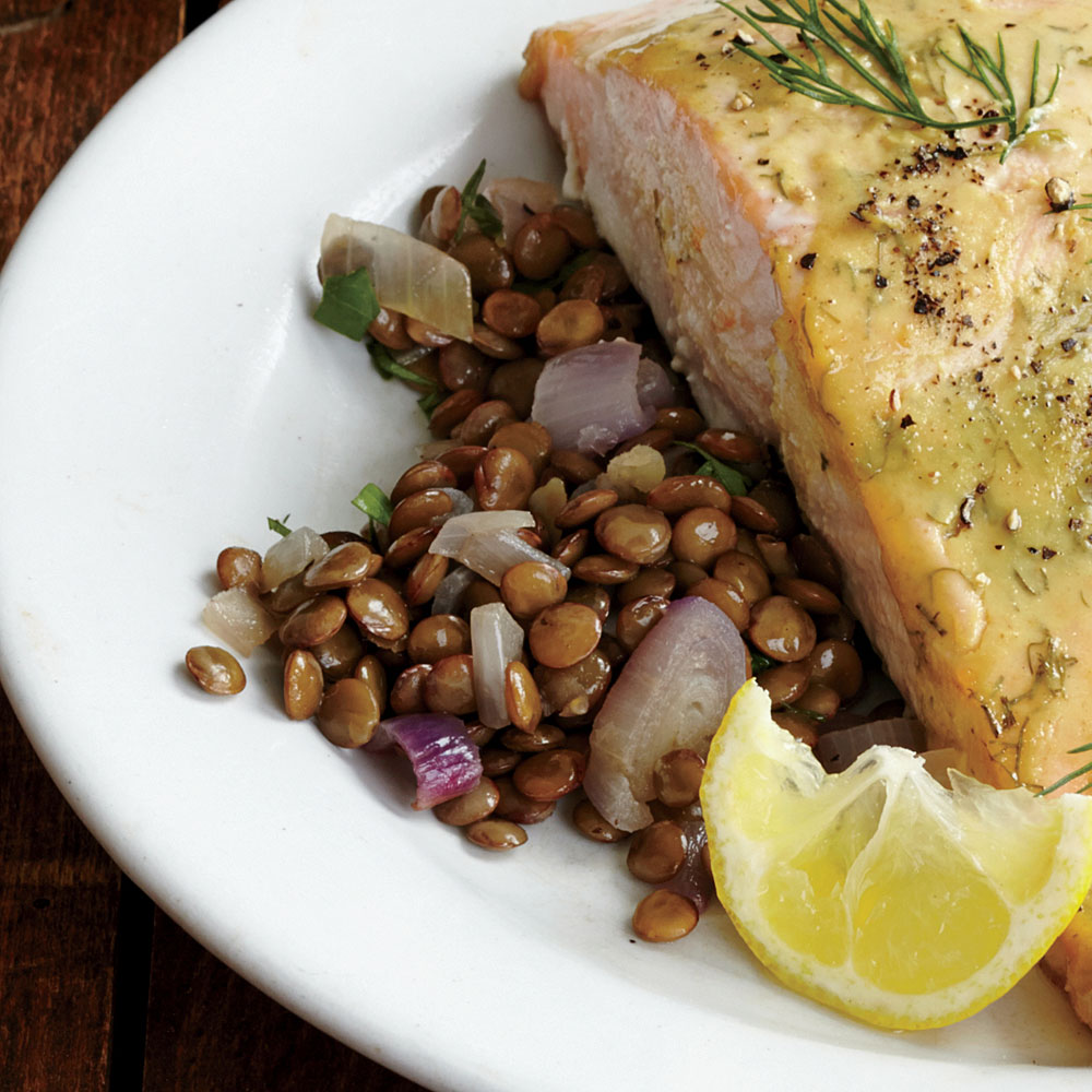 Buttery Lentils with Shallots