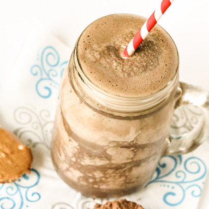 Migraine Busting Healthy Chocolate Peanut Butter Shake