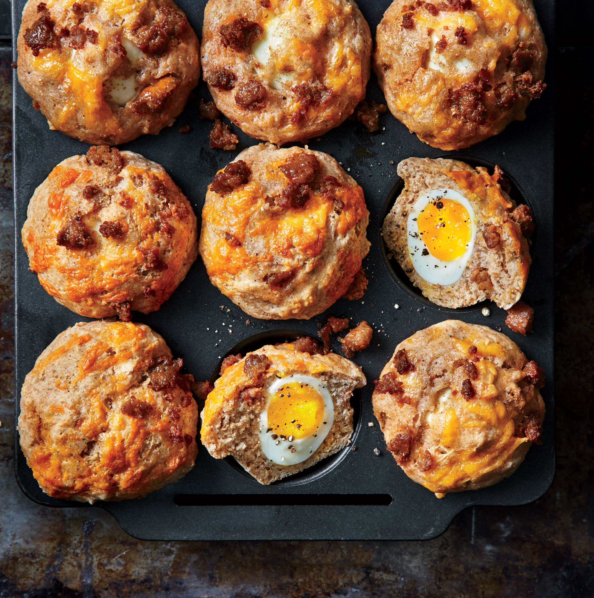 ck- Soft-Yolk Muffins with Sausage and Cheese