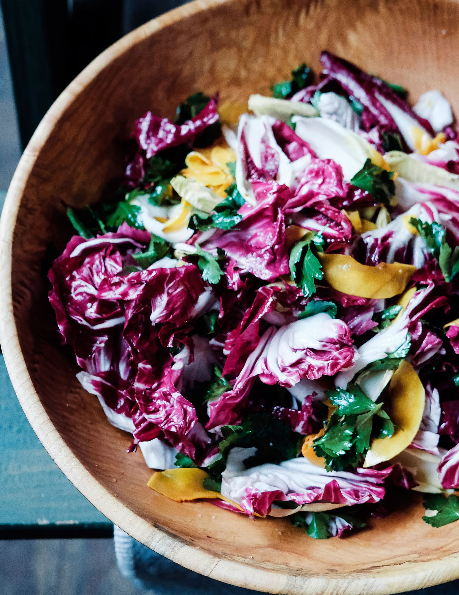 Chicory Salad with Pickled Squash