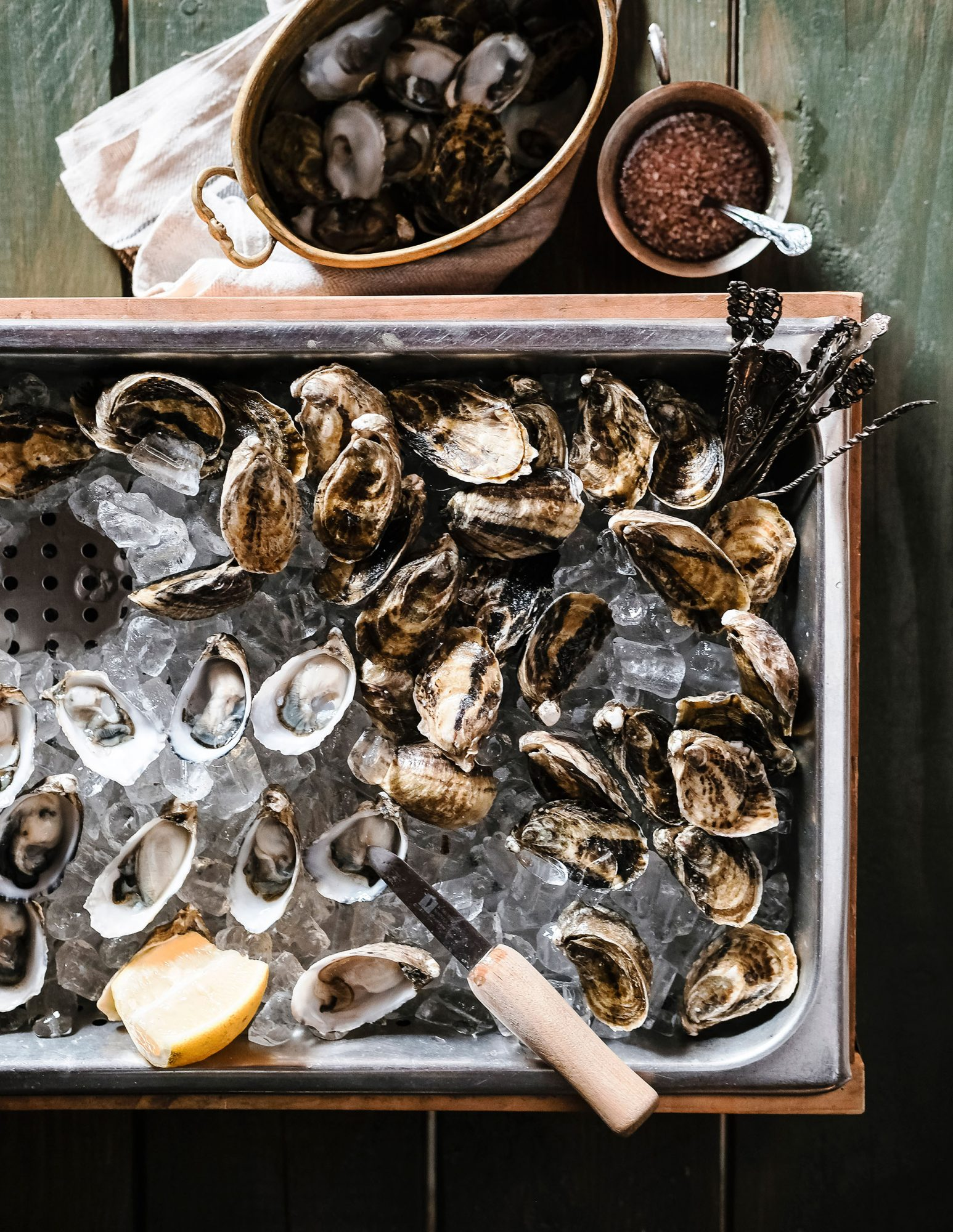 Oysters with Ginger-Shallot Mignonette