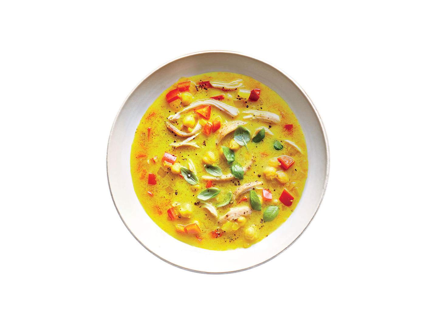 Turmeric Chicken-and-Chickpea Soup