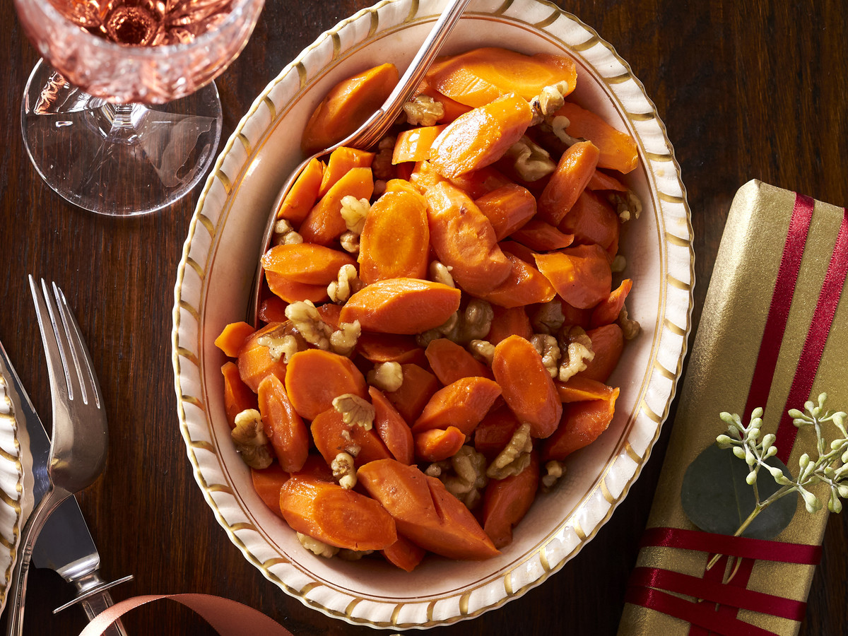 Cider-Glazed Carrots with Walnuts