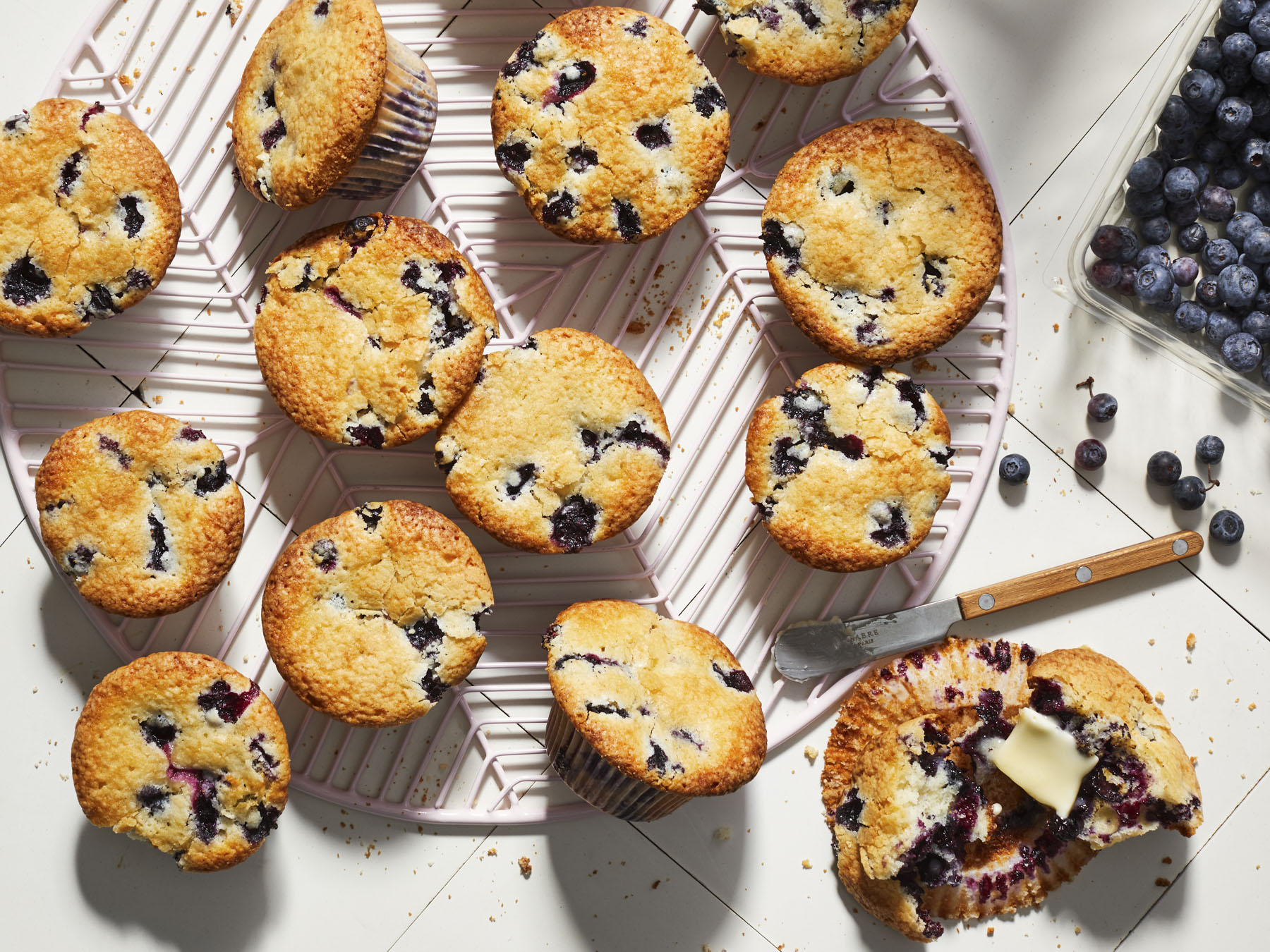 mr-Blueberry Pound Cake Muffins Image