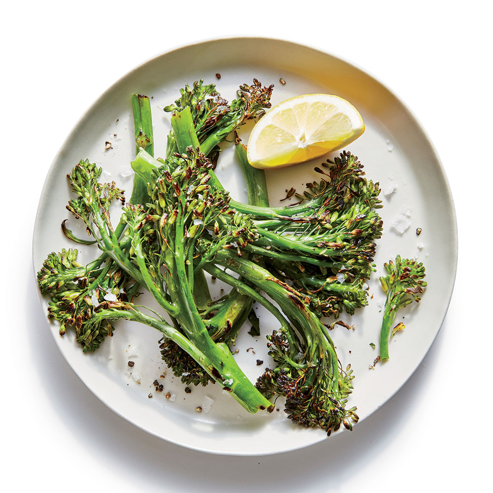 Simple Blistered Broccolini