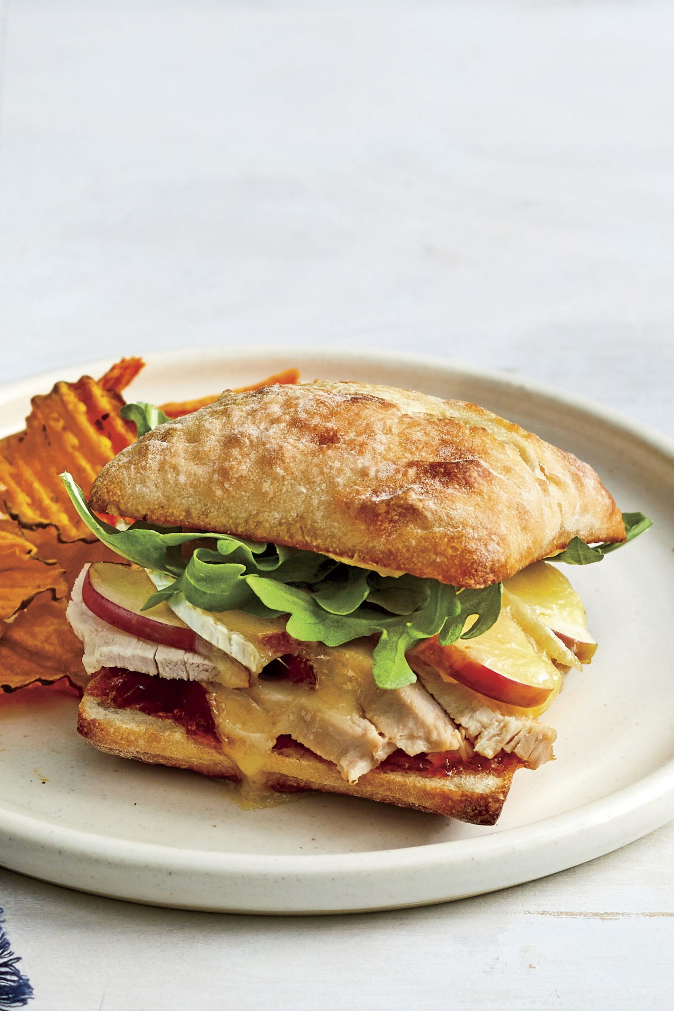 Turkey, Apple, and Brie Sandwich