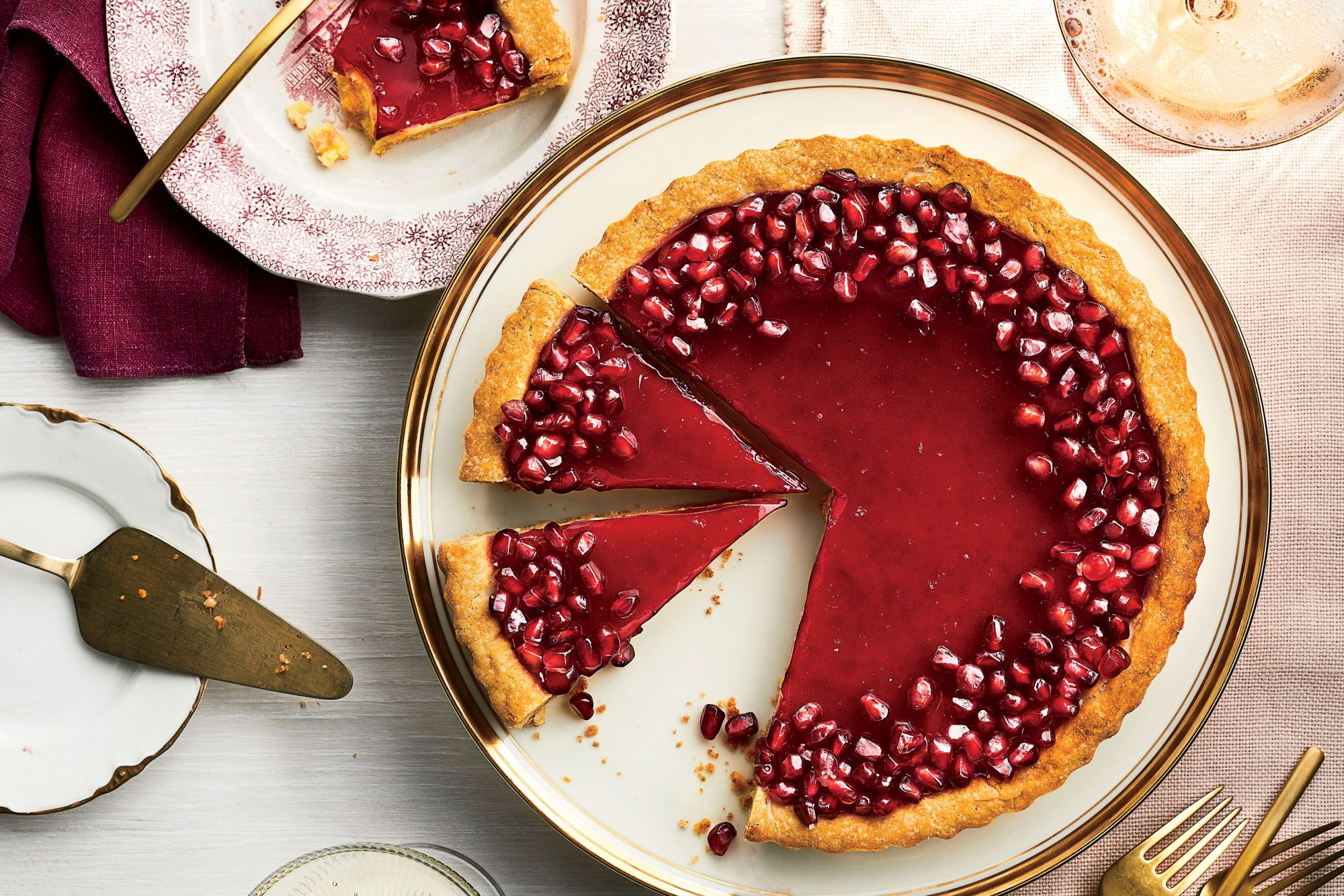 Pomegranate-Chess Tart