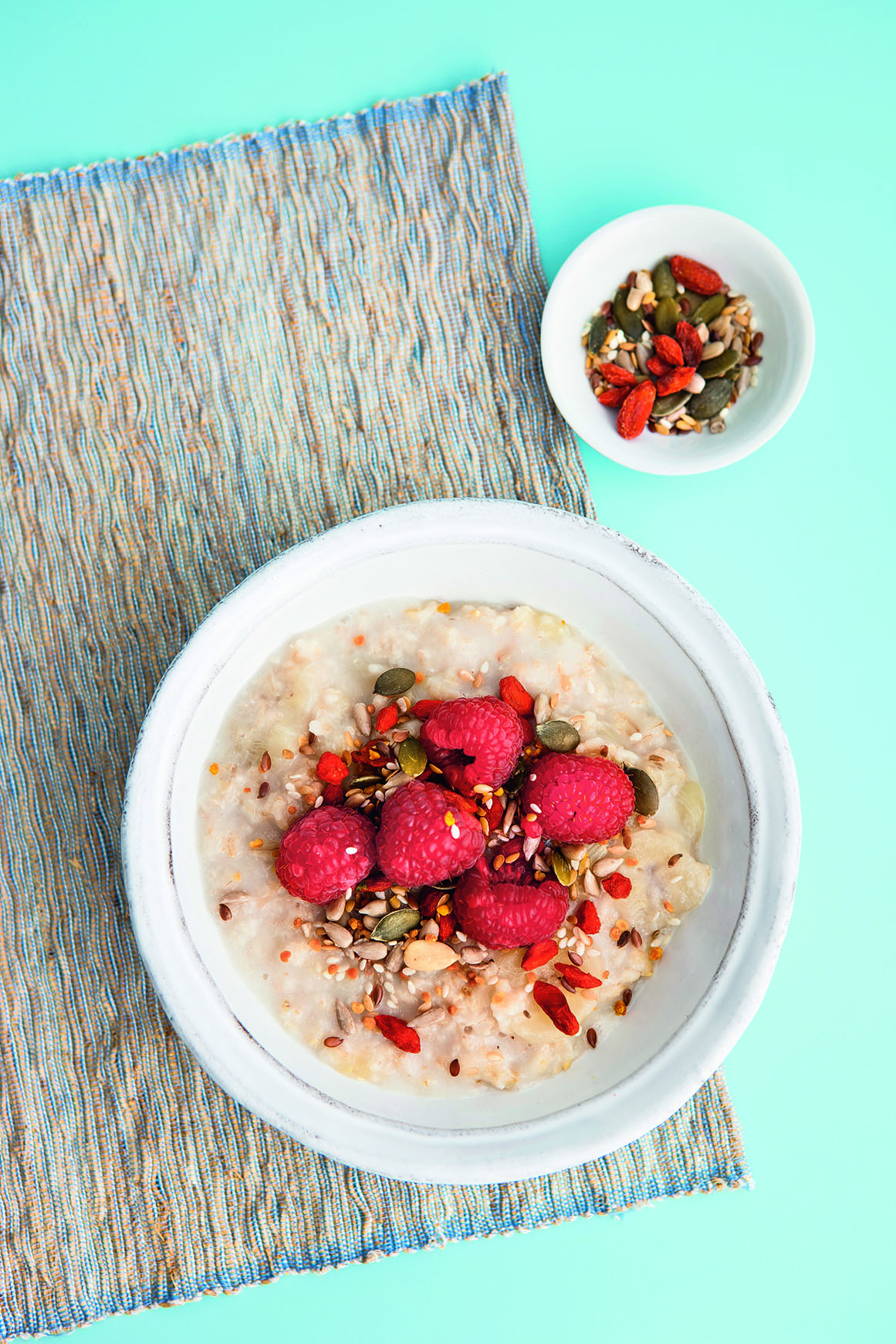 Overnight Oats with Raspberry and Seeds