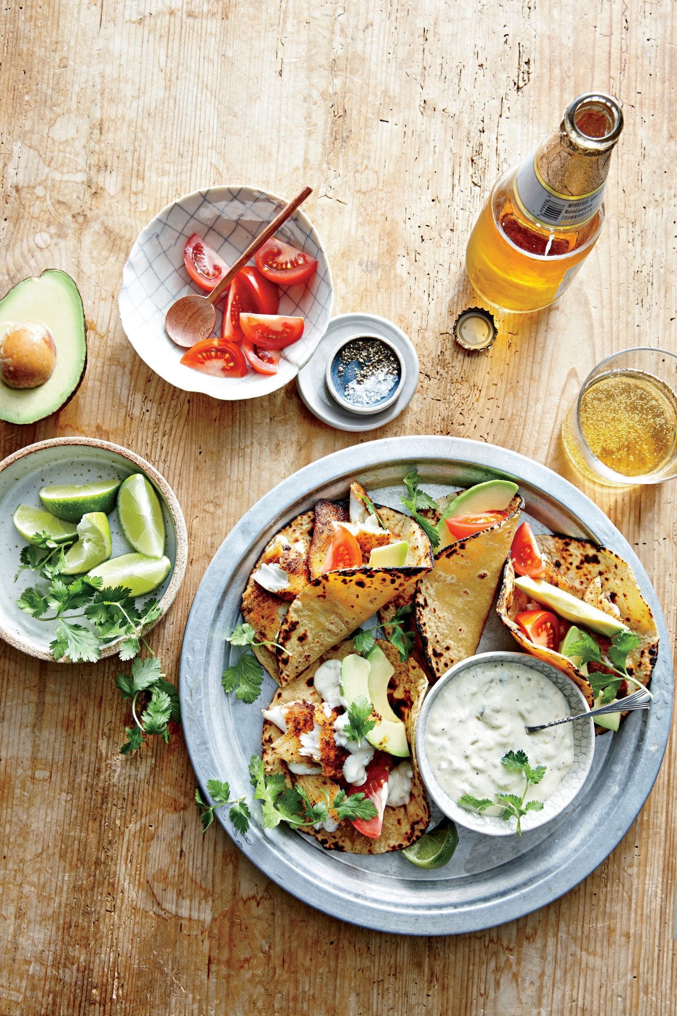 Fish Tacos with Sweet Pickle Sauce