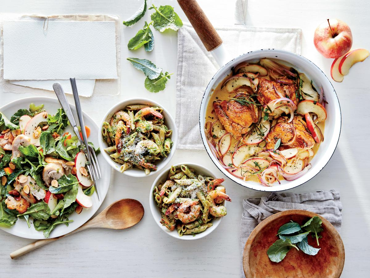 Kale Pesto Pasta with Shrimp Image