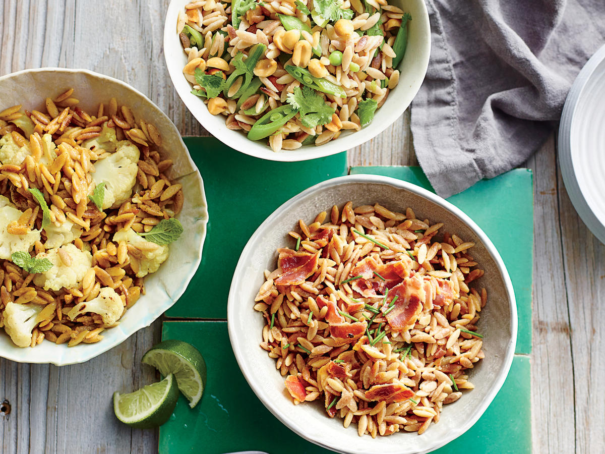 Orzo with Snap Peas, Cilantro and Peanuts