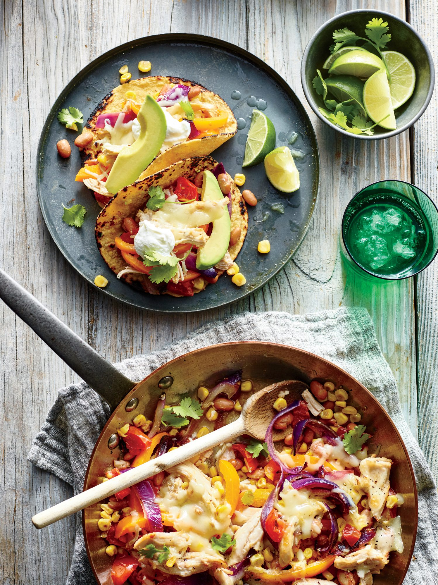 Cheesy Chicken Fajitas