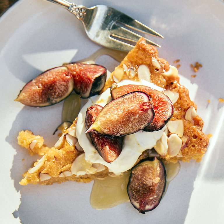 Almond Torte with Grilled Figs