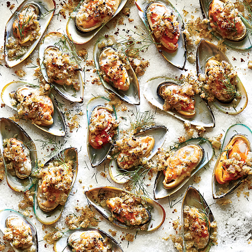 Baked Mussels with Fennel