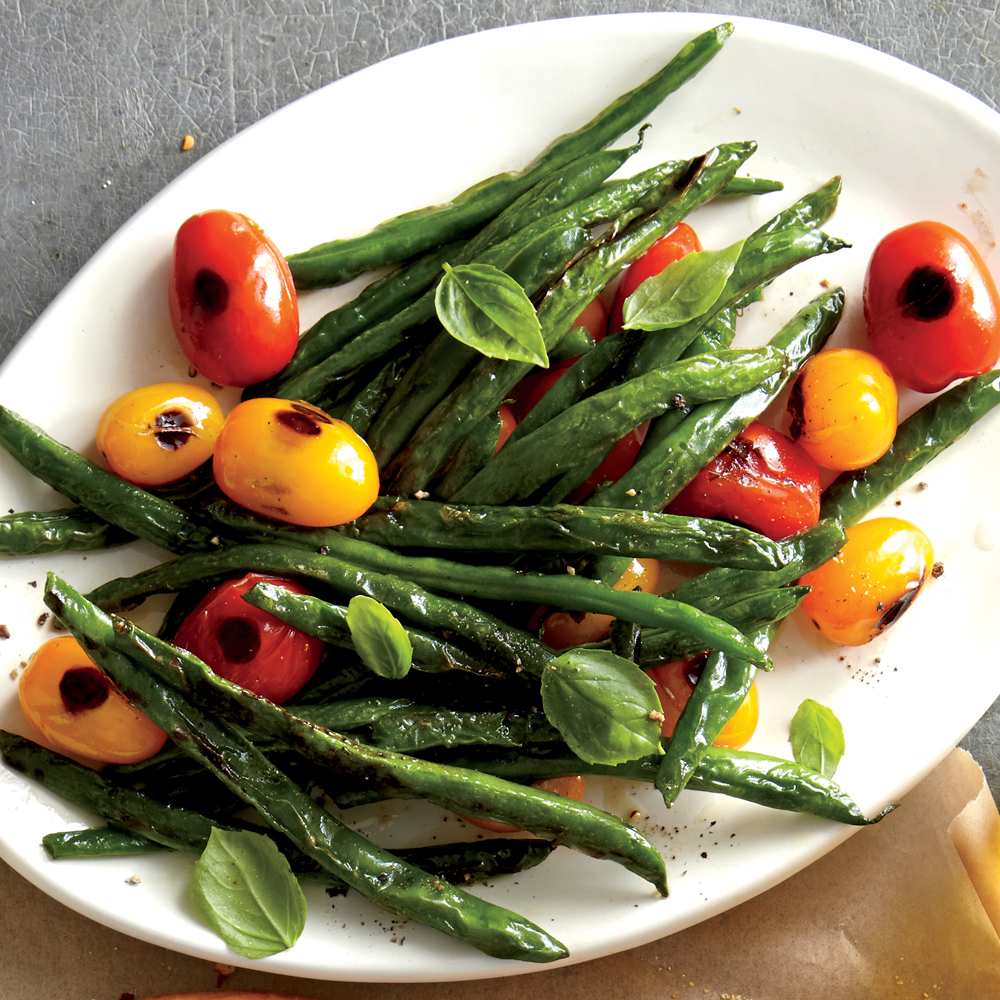 Blistered Green Beans and Tomatoes