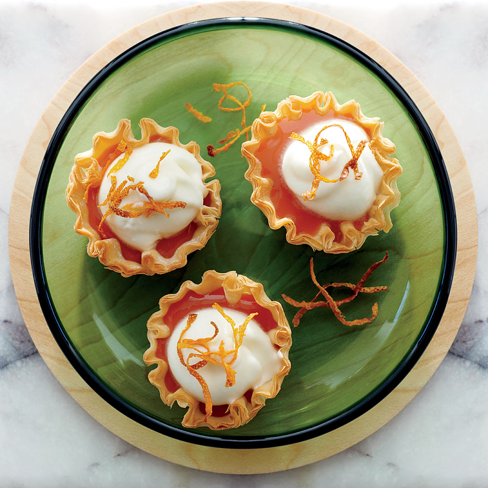 Blood Orange and White Chocolate Cream Cups