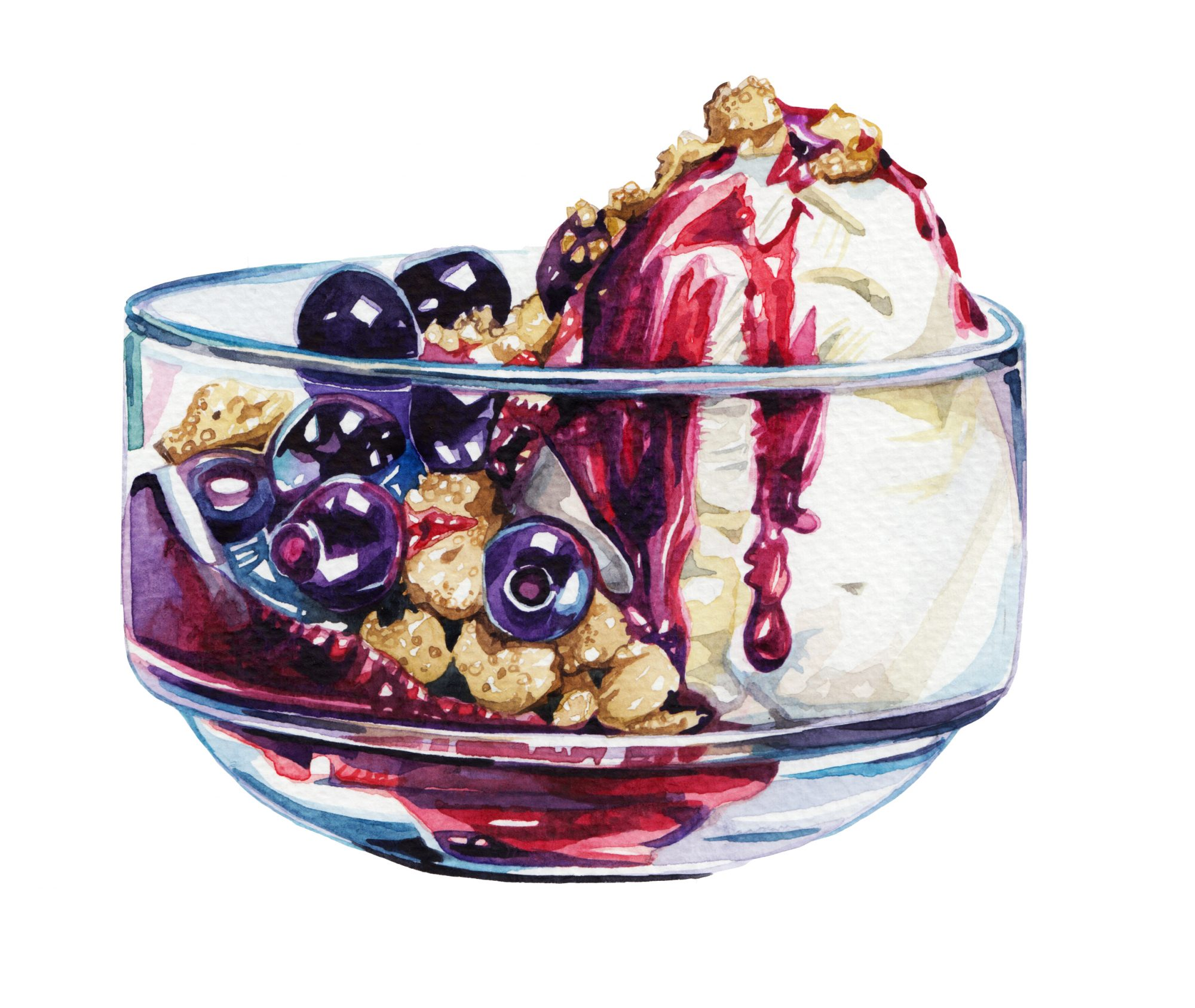 Blueberry Pie Sundaes