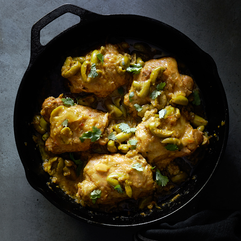 Chicken with Preserved Meyer Lemon and Olives