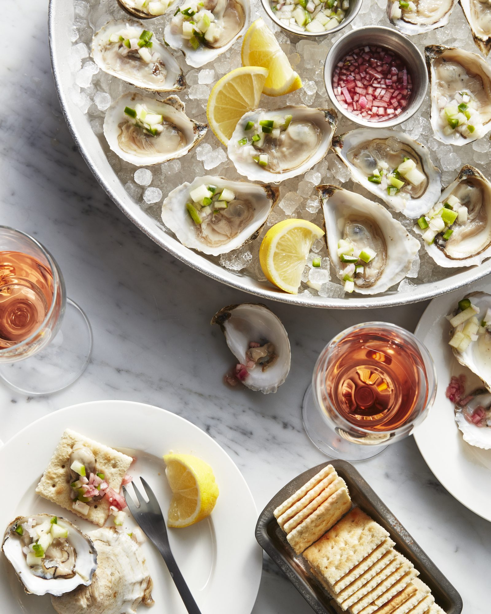 Murder Point Oysters with Apple-Ginger Relish image