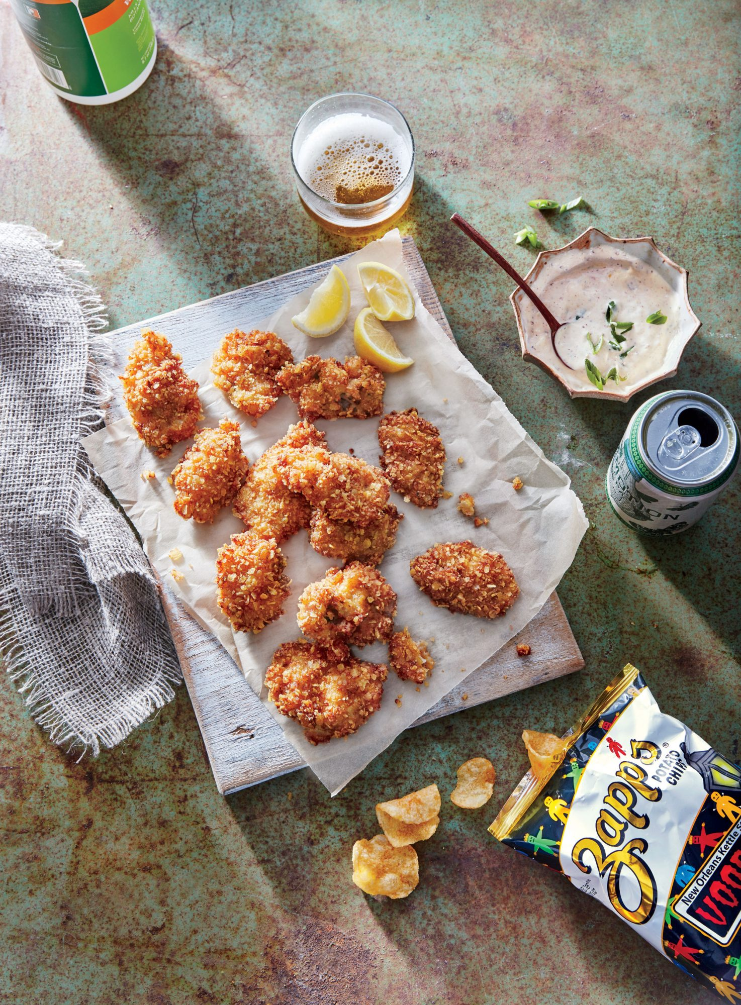 Potato Chip-crusted Fried Oysters